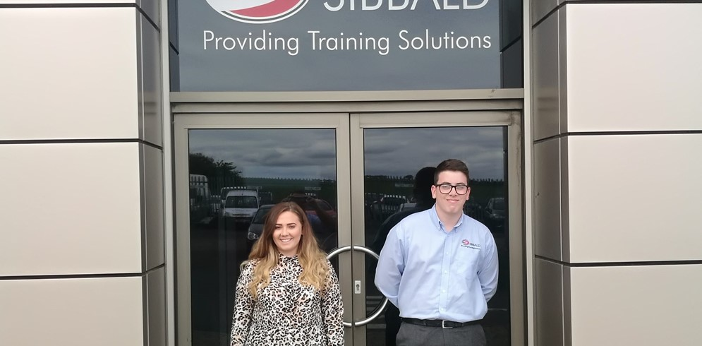 Sibbald Training welcome Jordan and Amy to the business..