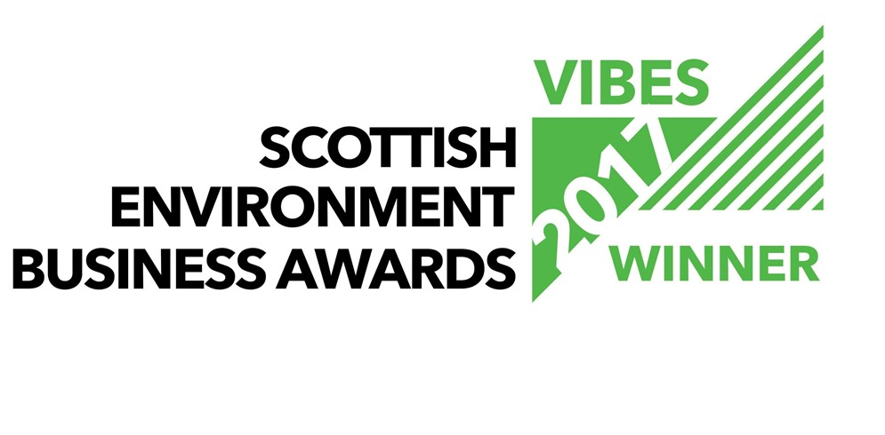 WINNERS at the 2017 VIBES Scottish Environmental Business Awards